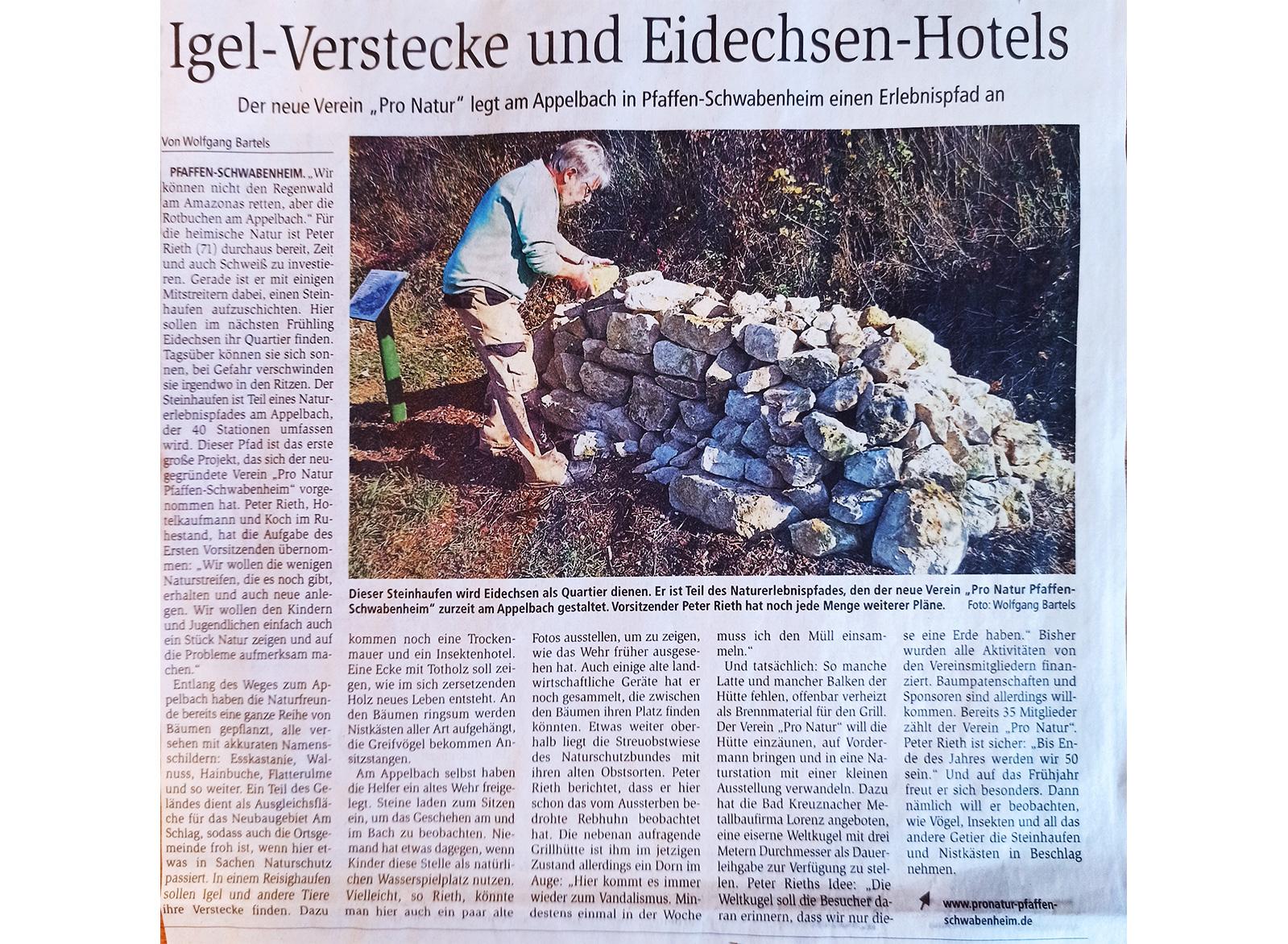 Artikel Allgemeine Zeitung Bad Kreuznach